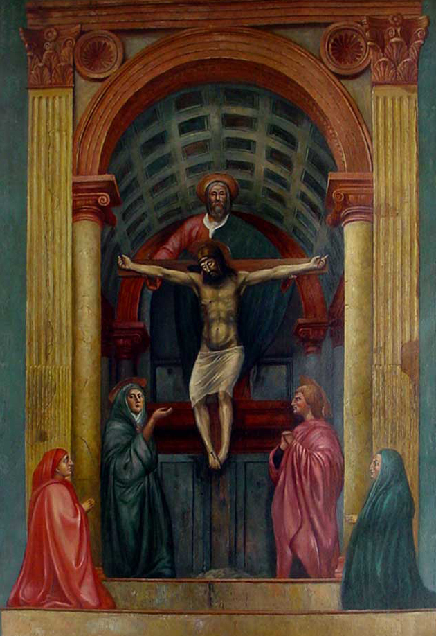 an analysis of masaccios 1428 the holy trinity Masaccio: the holy trinity, free study guides and book notes including comprehensive chapter analysis, complete summary analysis, author biography information.