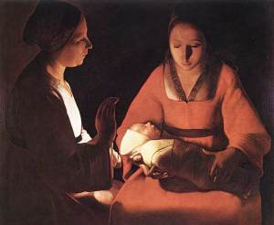 The Newborn Child by Georges de la Tour